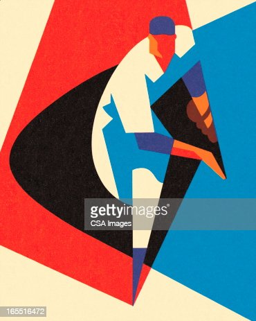 Stylized Baseball Pitcher : Stock Illustration