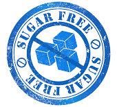 sugar free grunge stamp, in english language
