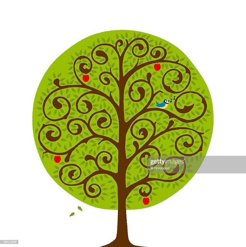 Summer Tree : Stock Illustration
