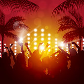 outdoor beach party music background for active night events