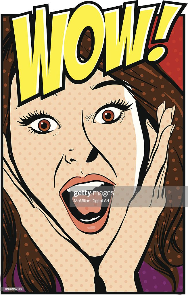 Surprised woman : Vector Art