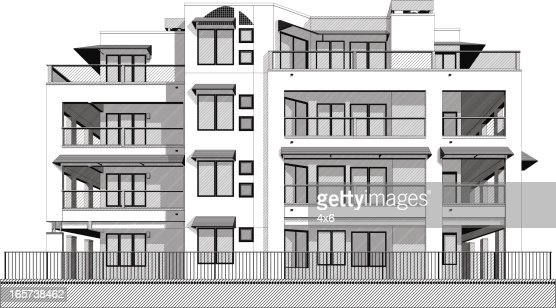 Apartment Building Vector Art Getty Images