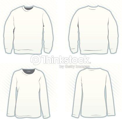 Sweatshirt Design Template Set Vector Art Thinkstock - Sweatshirt design template