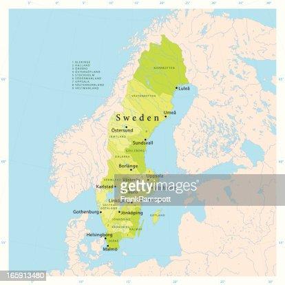 Sweden Vector Map Vector Art Getty Images - Sweden map helsingborg