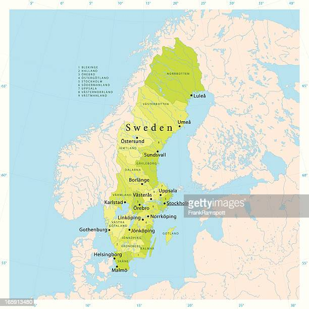 Sweden Stock Illustrations And Cartoons Getty Images - Sweden map ostersund