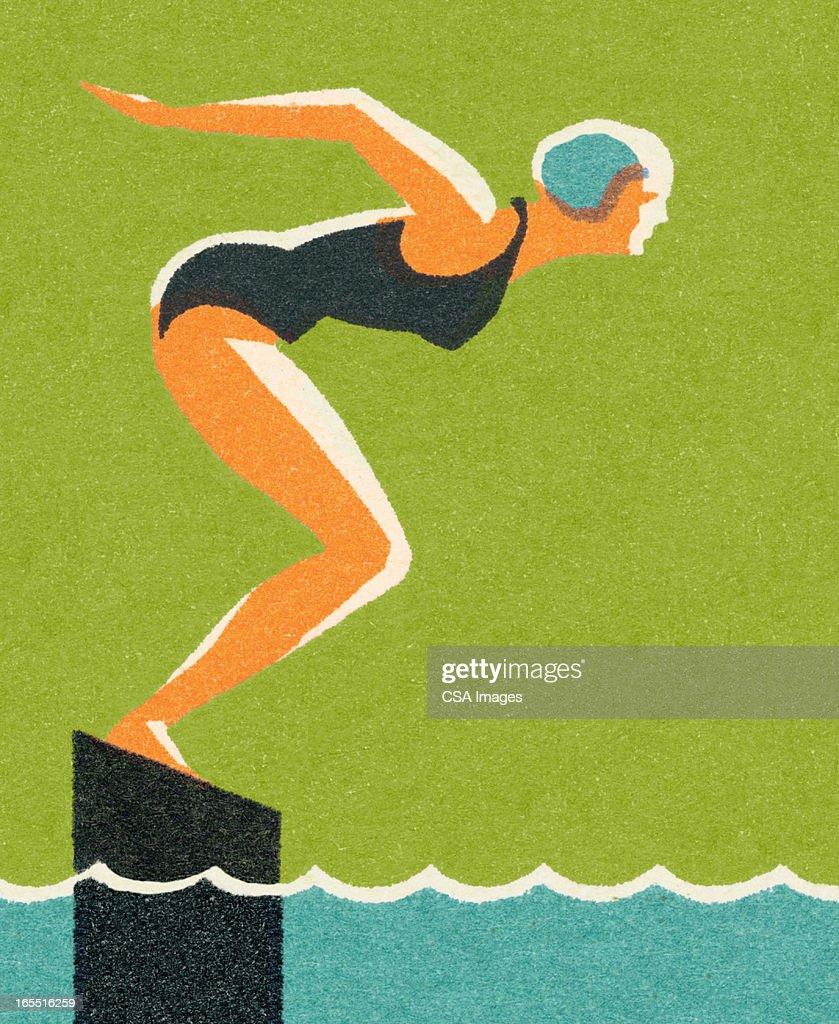 Swimmer : Stock Illustration