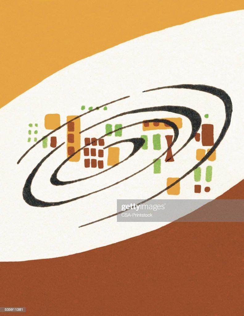 Swirl Pattern : Stock Illustration