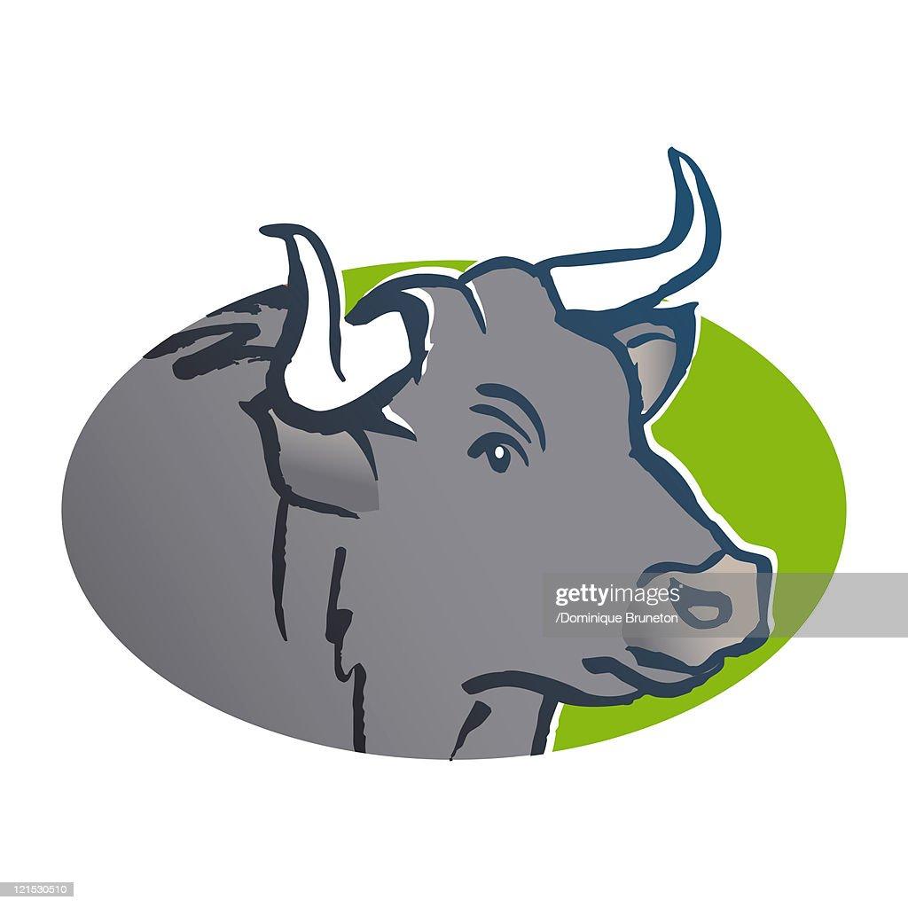 Taurus astrological sign, illustration : Stock Illustration