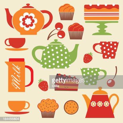 Tea_party : Stock Illustration