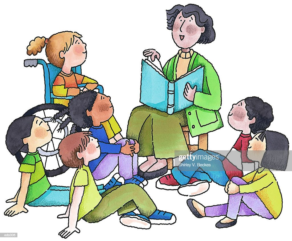 Image result for picture of teacher reading to students