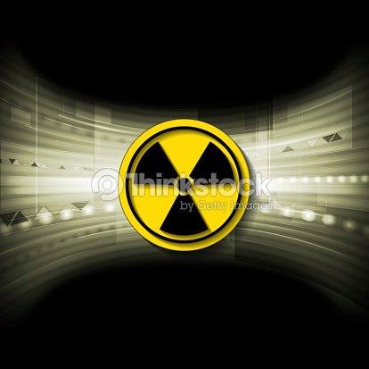 Tech Background With Radioactive Symbol Stock Illustration Thinkstock