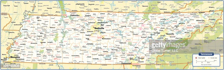 Tennessee State Map Vector Art Getty Images - Tn state map