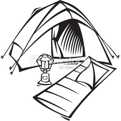 Tent And Sleeping Bag Layered Outdoor Essentials Ready To Rough It Arte Vectorial
