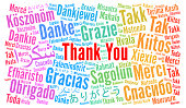 Thank You illustration word cloud in different languages illustration