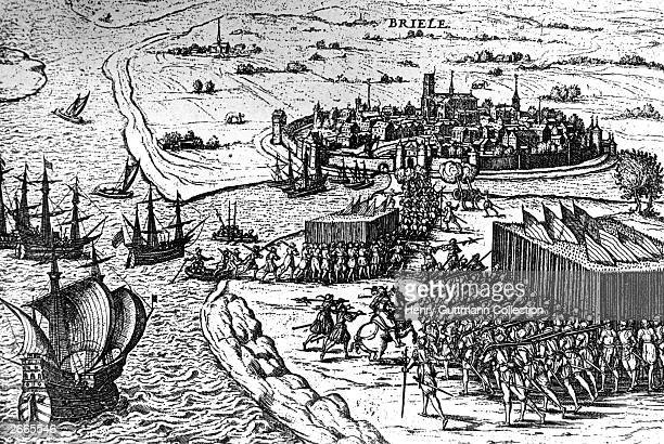 The assault on Brielle by the Sea Beggars during the Netherlands revolt against Spanish domination April 1572