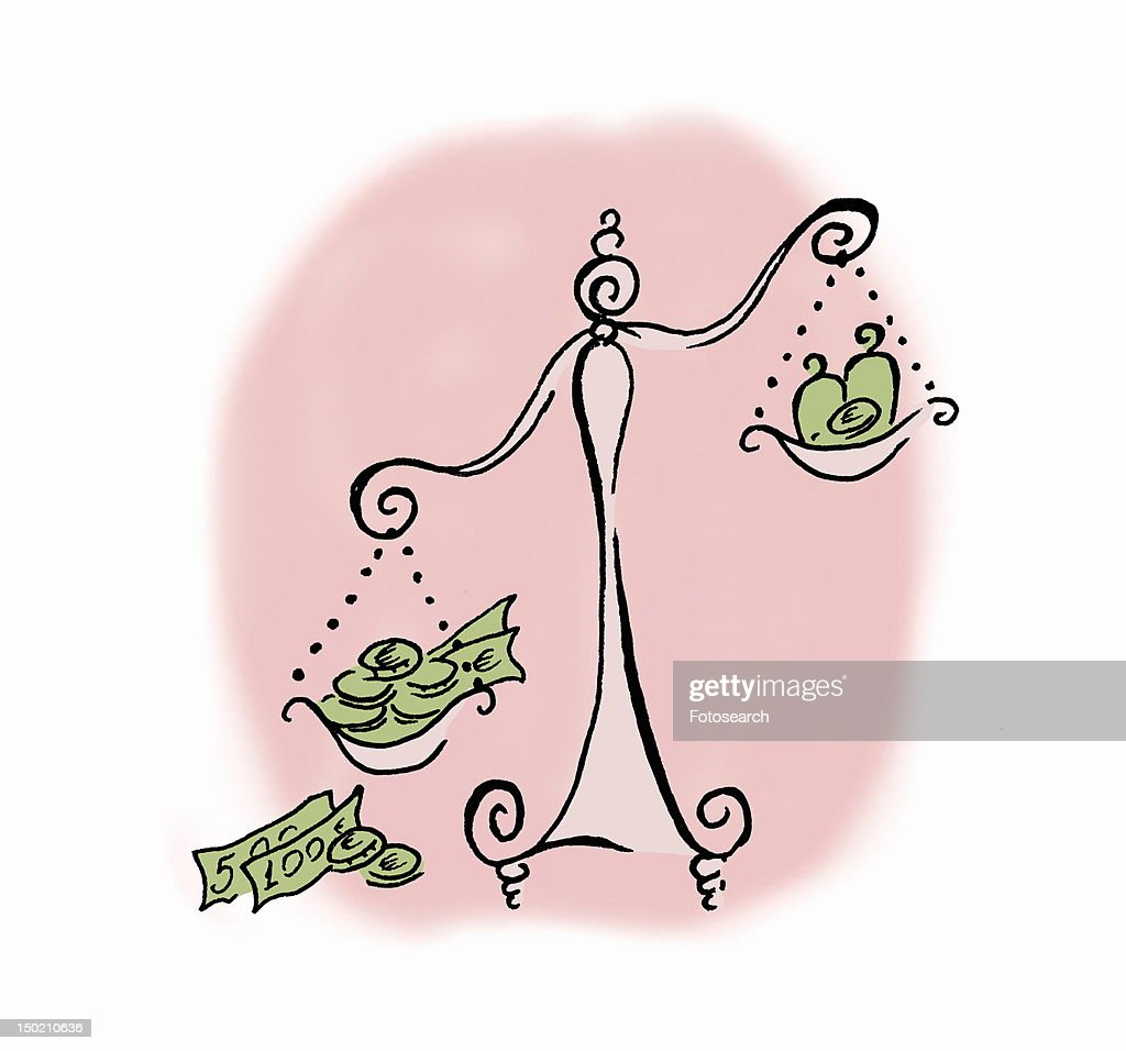 The balance of money : Stock Illustration