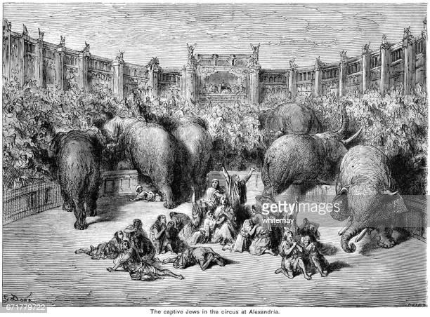 De gevangen Joden in het Circus in Alexandrië (Gustav Doré)