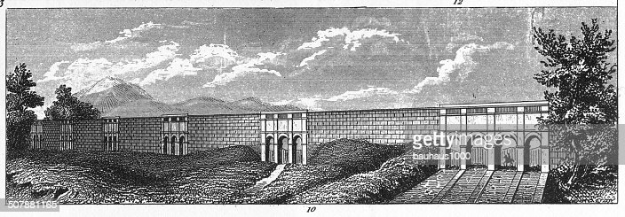 The Croton Aqueduct Of New York Stock Illustration