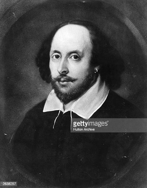The English poet and dramatist William Shakespeare circa 1610 Painting known as the 'Chandos portrait'