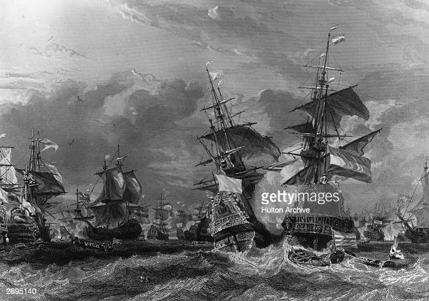 The French corsairs under Jean Bart of Dunkirk defeat the Dutch fleet at the Battle of Texel one of the West Frisian Islands in the north west...