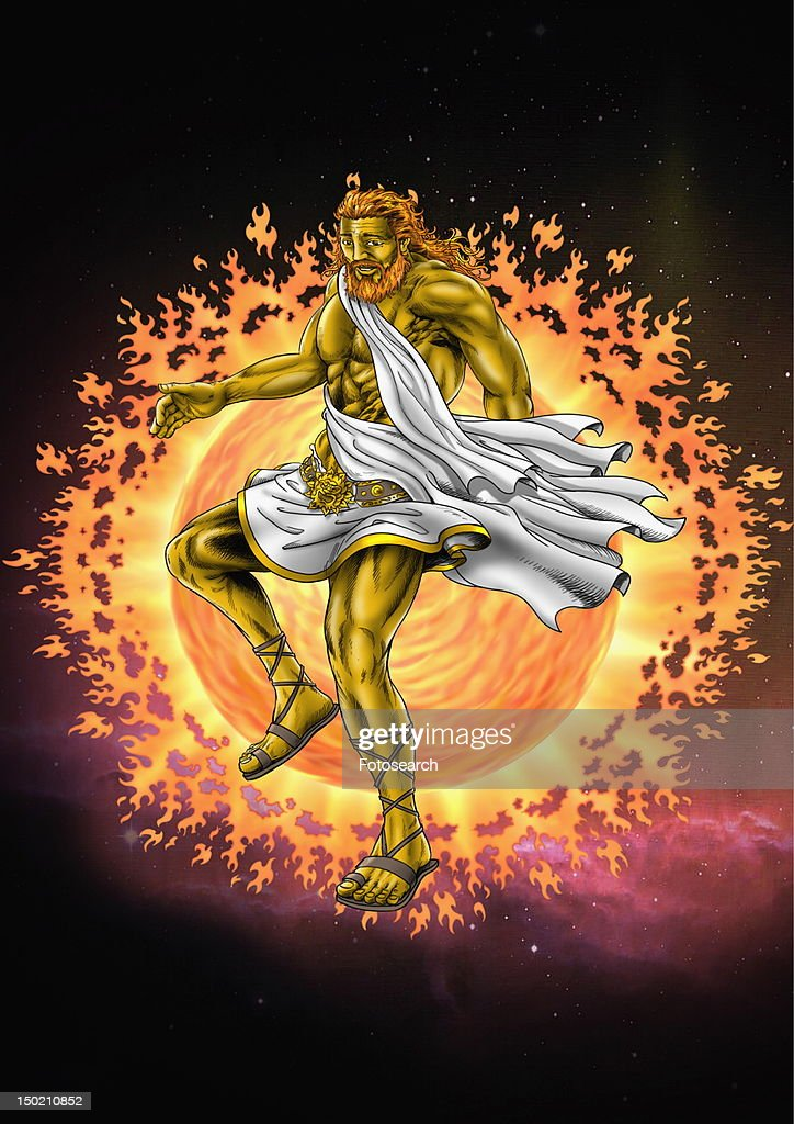 The god Hephaestus : Stock Illustration