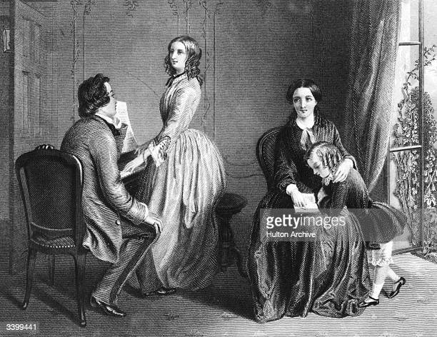 'The Governess' an engraving by Alfred T Heath after R Solomon