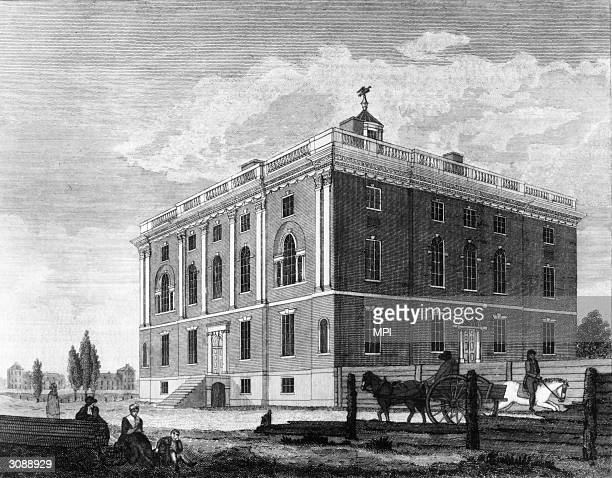 The house on Ninth Street Philadelphia intended as the residence of the President of the United States Original Artwork Drawn and engraved by William...