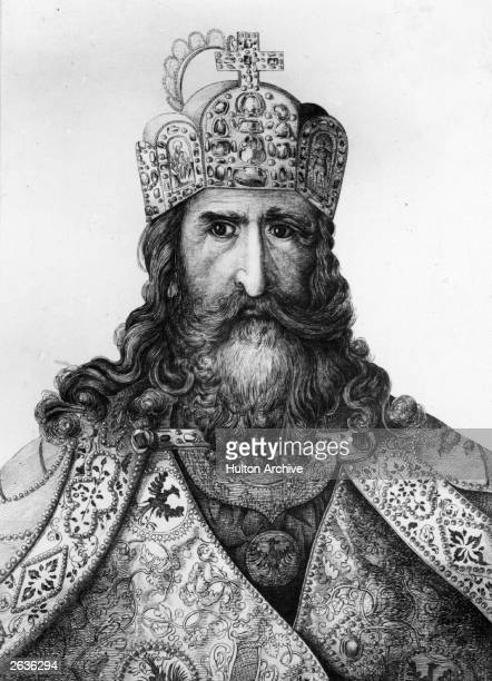 The legendary Charlemagne also known as Carolus Magnus Charles the Great king of the Franks and Christian emperor of the west circa 800 Original...