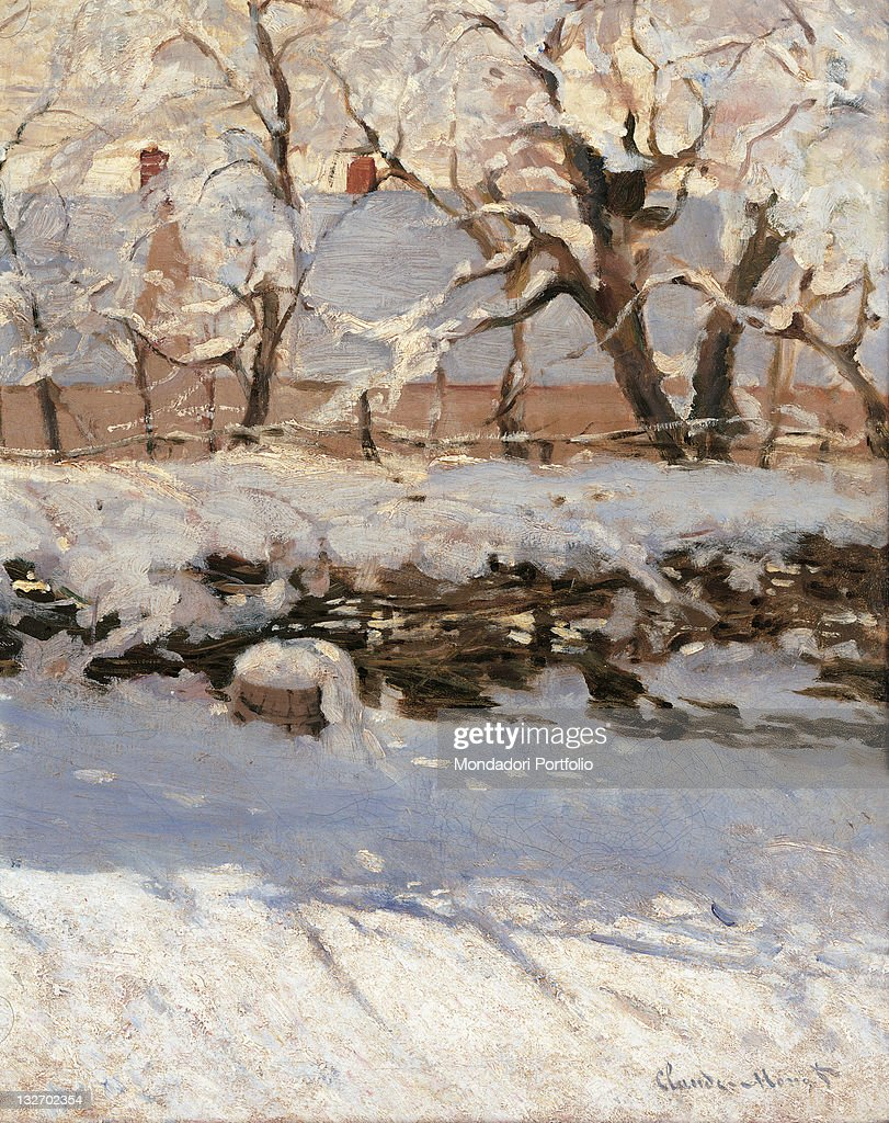 The Magpie, by Claude Monet, 1868 - 1869, 19th Century, oil on canvas, cm 89 x 130. : Fine art