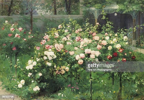 The rose garden Artist b 1843 d 1902