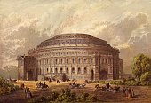 The Royal Albert Hall of Arts and Sciences in London's Kensington built between 1867 and 1871 as a monument to Prince Albert