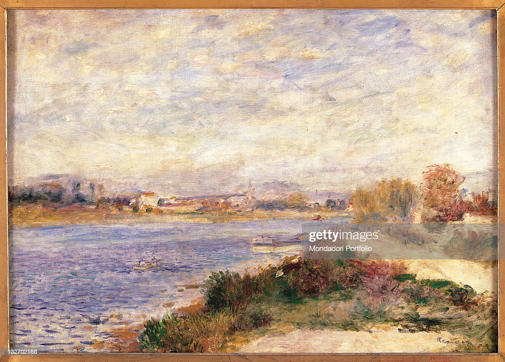 The Seine at Argenteuil, by Pierre-Auguste Renoir, 1873 about, 19th Century, oil on canvas, cm 46,5 x 65. : Fine art