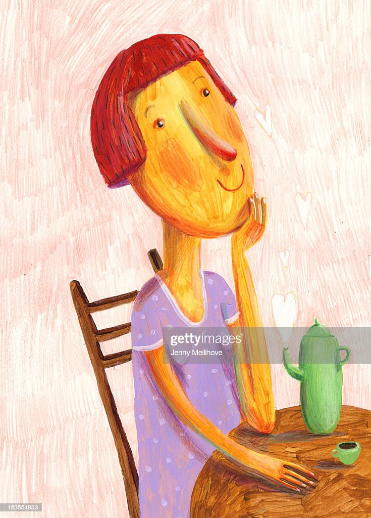 Thinking about you : Stock Illustration