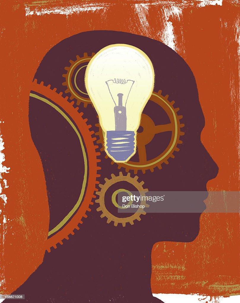 Thinking Mind illustration : Stock Illustration