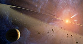 Observations from NASA's Spitzer Space Telescope show that the system hosts two asteroid belts, in addition to previously identified candidate planets and an outer comet ring.  Epsilon Eridani is loca