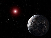 Astronomers detected an extrasolar planet five times as massive as Earth circling a red dwarf, a relatively cool star. The distance between the planet, designated OGLE-2005-BLG-390Lb, and its host is