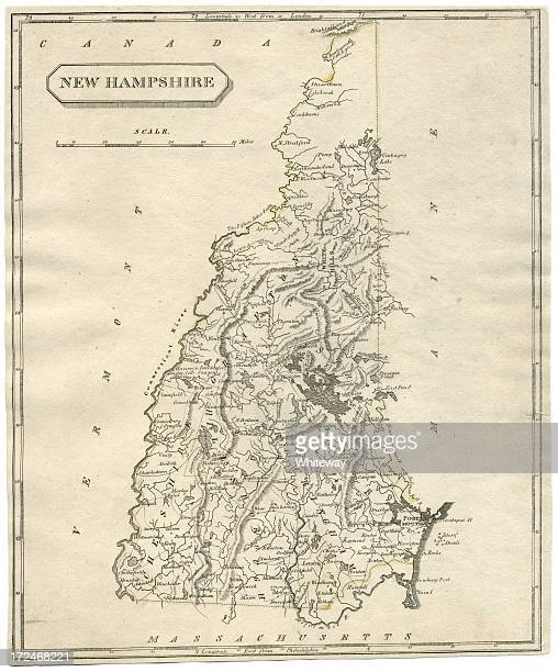 New Hampshire Stock Illustrations And Cartoons Getty Images - New hampshire us map