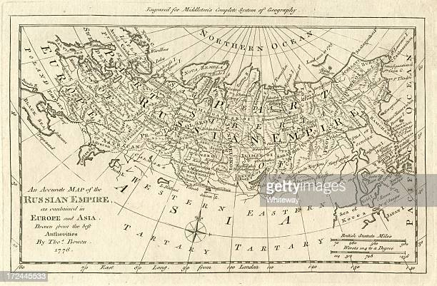 Map of the Russian Empire 18th century 1778
