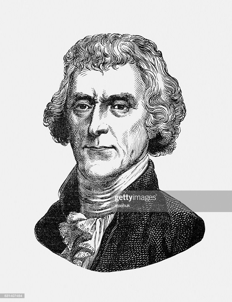 Thomas jefferson us president known for inventing swivel chair stock