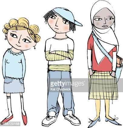 Three Children Of Different Ethnic Backgrounds Stock ...
