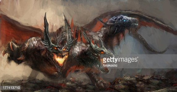 three headed dragon : Stock Illustration
