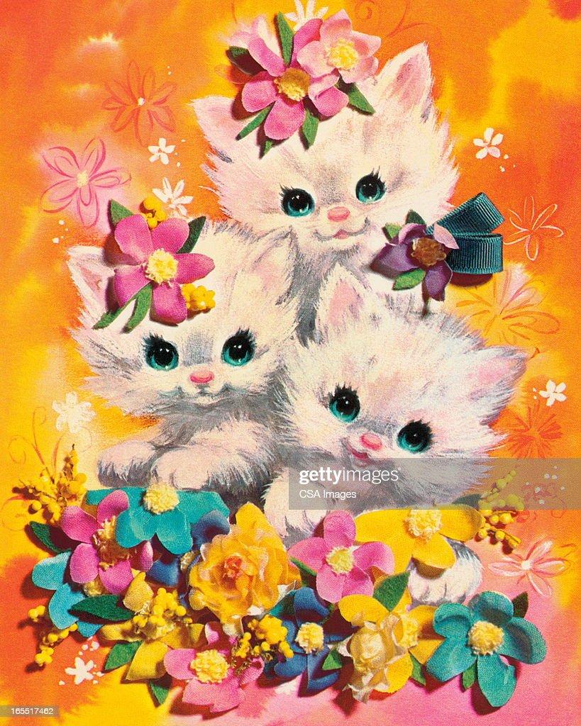 Three Kittens : Stock Illustration