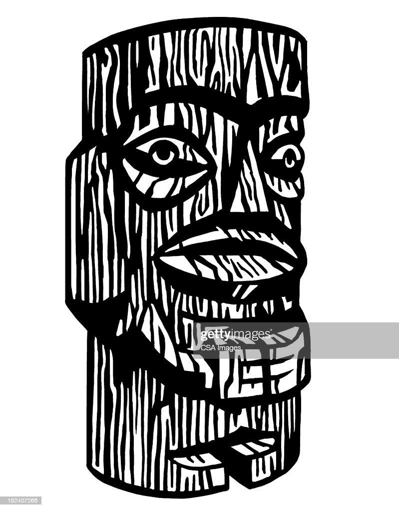 Tiki Figure : Stock Illustration