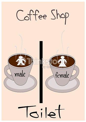 Toilet Symbol In Coffee Shop Stock Illustration Thinkstock