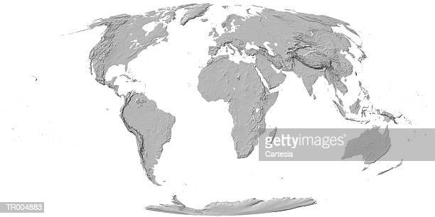 Topographic Map -- Oval Projection