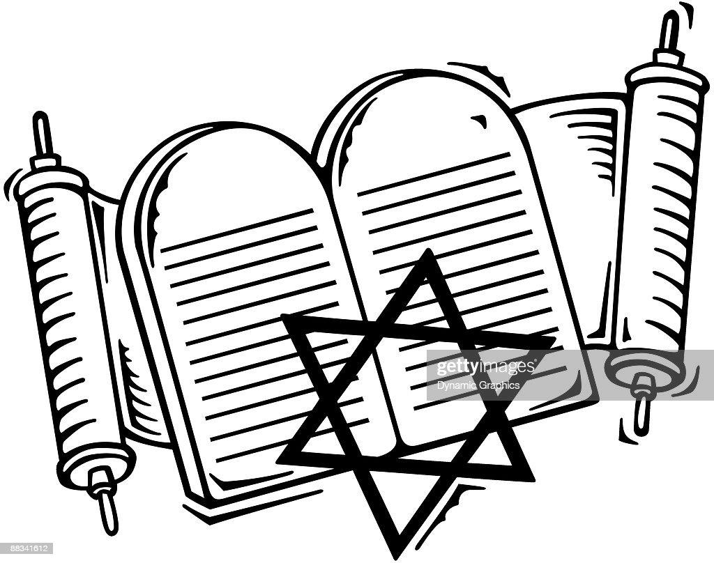 torah commandments and star of david grouped elements symbols of rh thinkstockphotos co uk North Star Clip Art Bethleham Star Clip Art