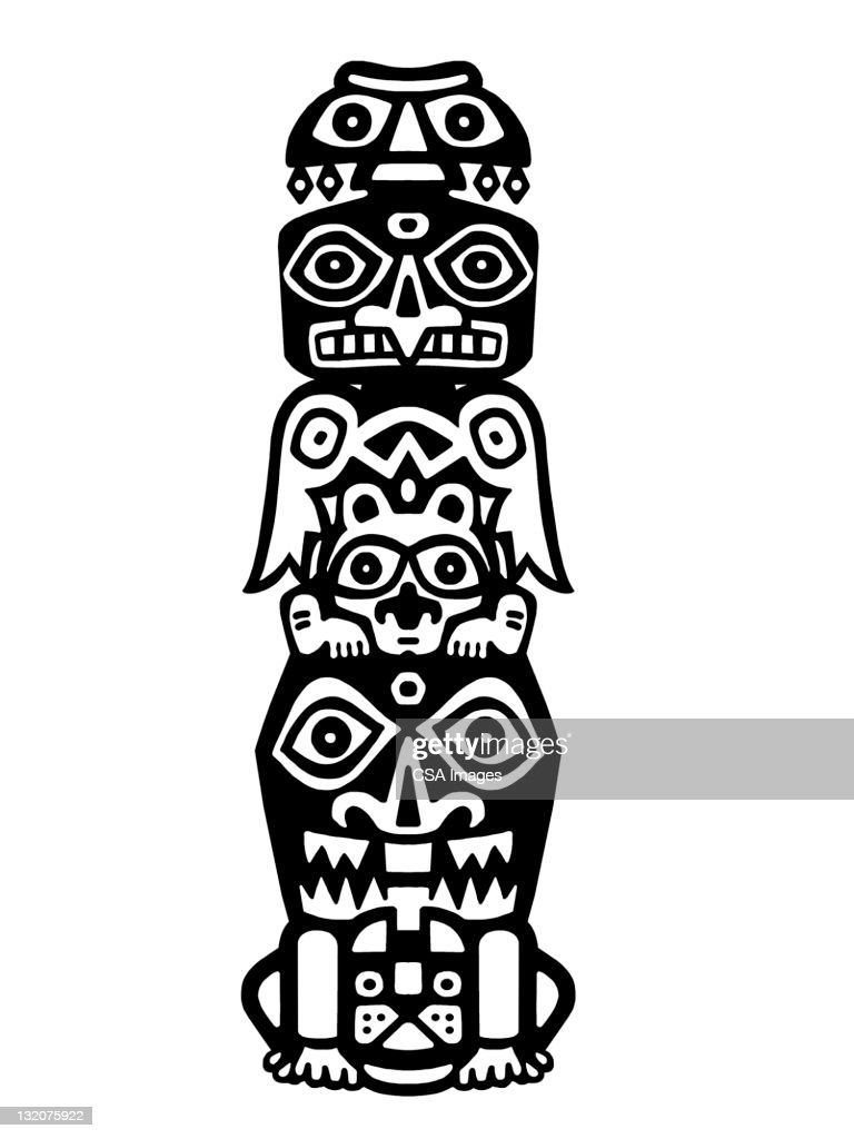 totem pole stock illustration getty images