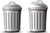 """Trash can. Vector illustration over white. EPS 8, AI, JPEG"""