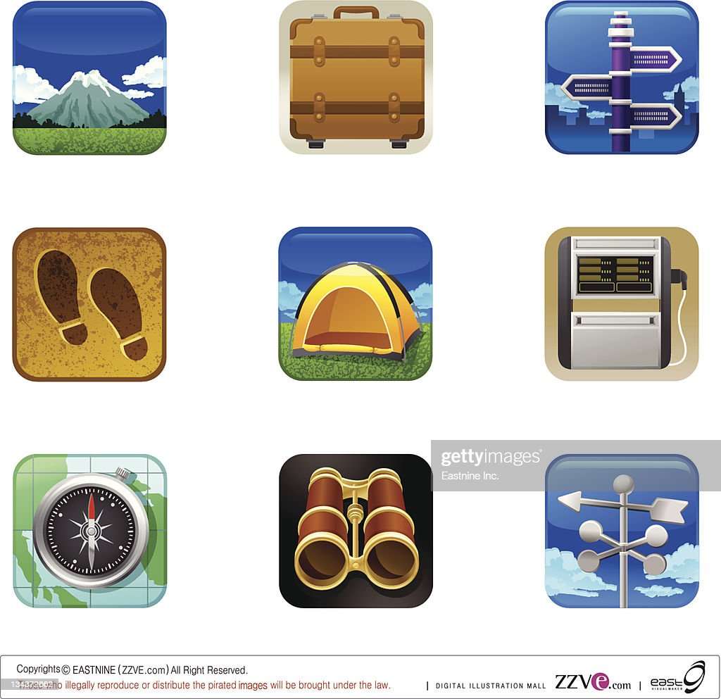 Travel set icon : Vector Art