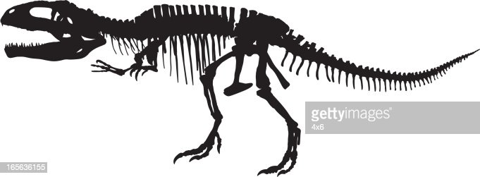 Vector Art : T-Rex Skeleton